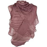 Stola donna cerimonia coprispalle elegante da ragazza signora anziana matrimonio giorno sera plisse foulard fular grande…