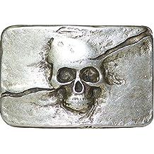 51fd2179f52 Fronhofer Boucle de ceinture tête de mort coloris argent vieilli