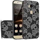 MOONCASE Huawei G8 Hülle, [Skull] Kreativ Bunt Muster