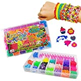 Loom Bands Twister Case Kit - 2000 Bands + 500 Scented Bands - Friendship Jewellery Making Set