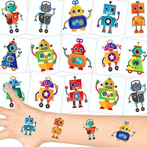 German Trendseller® - Kleine Roboter Tattoos ┃ NEU ┃ Robo Party ┃ Eve ┃ Kindergeburtstag ┃ Mitgebsel ┃36 Tattoos