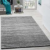 Teppich Kurzflor Modern Gemütlich Preiswert Mit Melierung Grau Anthrazit Creme