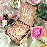 CANDLE IN THE BOX | Rosa | Geschenk-Box mit Botschaft & Kerze | Geschenk für Mama zum Geburtstag | Engel ohne Flügel nennt man Mama | Dankeschön für alles