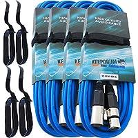 4x Cavo microfono KEEPDRUM MC 001x x BL blu 10m