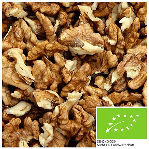 1kg Bio Walnusskern-Bruch - 100% naturbelassene und unbehandelte Bio Walnüsse ohne Schale
