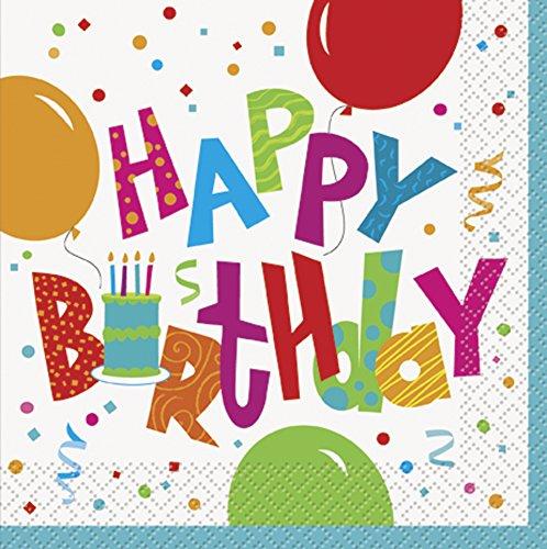 Geburtstag Jamboree Papier Servietten, 16Stück (Papier Geburtstag Party Servietten)