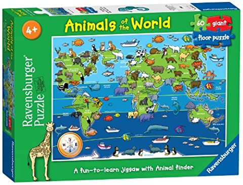 Ravensburger 7072 Animals of the World Giant Floor Jigsaw Puzzle