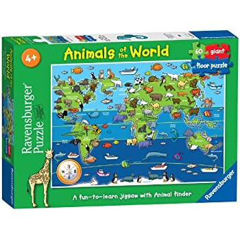 Ravensburger 7072 Animals of the World Giant Floor Jigsaw Puzzle - 60 Pieces