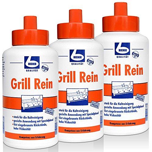 Preisvergleich Produktbild 3x Dr. Becher Grill Rein für Grills, Fritteusen / 1 Liter