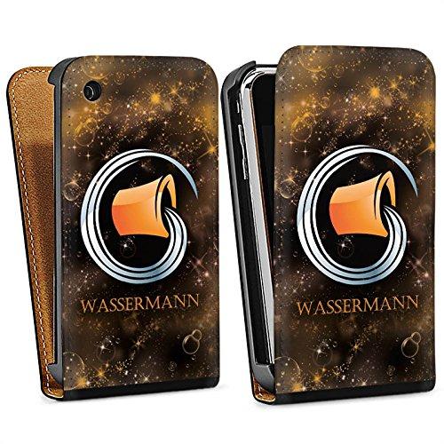 Apple iPhone 5s Housse Étui Protection Coque Signes du zodiaque Verseau Astrologie Sac Downflip noir