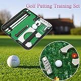 Generic utting Pract Set Golf conjunto Golf sintética Putter Formación olf Putti portátil viaje interior B Bal Putting práctica Kit puerta Club Ba Club bola