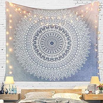 A,95 x 73 cm GLITZFAS Mandala Wandteppich Tapisserie Indische Tuch B/öhmische Wandtuch Wandkunst Schlafzimmer