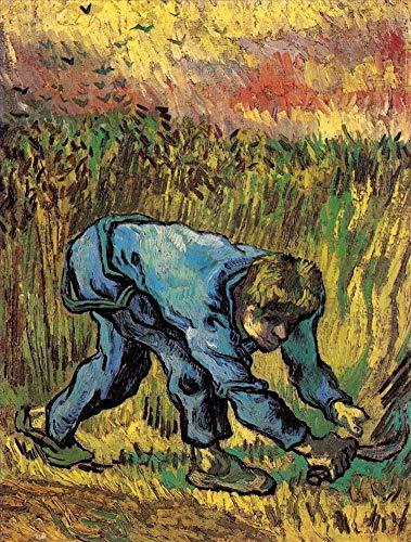 Toperfect 50€-2000€ Handgefertigte Ölgemälde - Reaper mit Sichel nach Millet Vincent Van Gogh Gemälde auf Leinwand Kunst Werk Ölmalerei VVG3 - Malerei Maße10
