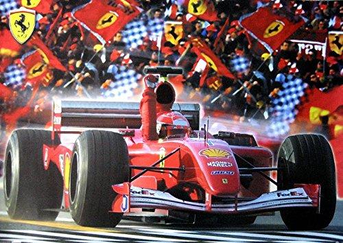 FERRARI POSTER FORMEL 1 BOLIDE VICTORY (Ferrari Home Decor)