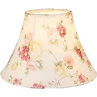"""Eastlion 9.8"""" E27/E14 Abat-jour Lampe de Table Fait Main en Tissu,Floral"""