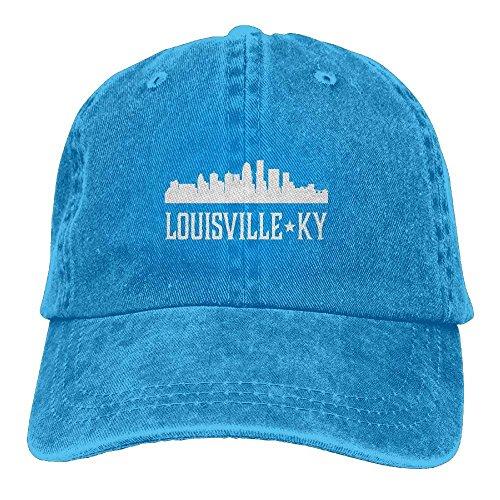 ASKYE Louisville Kentucky Skyline KY Cities Unisex Embroidered Cowboy Hat Sun Cap