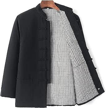Thick Warm Cotton Tang Suit Men Kung Fu Uniform Winter Tai Chi Uniform Long Sleeve Chinese Traditional Clothes Tops,Hanfu Jacket Kung Fu Clothing Shirt Coat