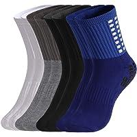tiopeia 4 Pairs Anti-slip Sport Sock, Men's Athletic Socks Rubber Grip Football Socks for Football Basketball Baseball…