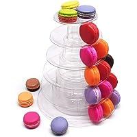 non-brand Plateau de Gâteau Mariage Support D'affichage Cupcake Biscuit Support de Macaron Rond Présentoir Rond à…