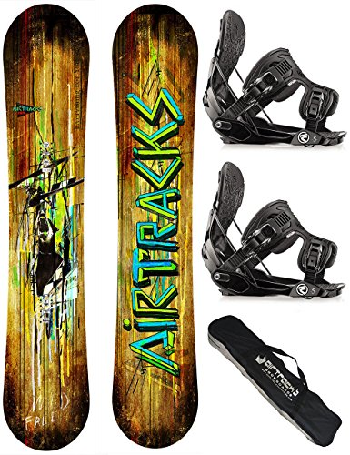AIRTRACKS SNOWBOARD SET - BOARD WILD WIDE 159- SOFTBINDUNG FLOW FIVE L - SB BAG (Hose Air Flow)