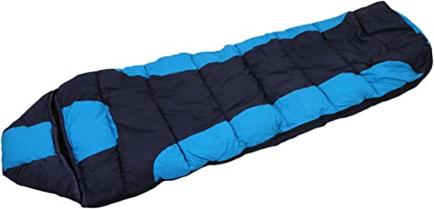 Klair Outdoor Navy Blue Nylon Cloth Inner Warmed Sleeping Bag [Premium Quality]