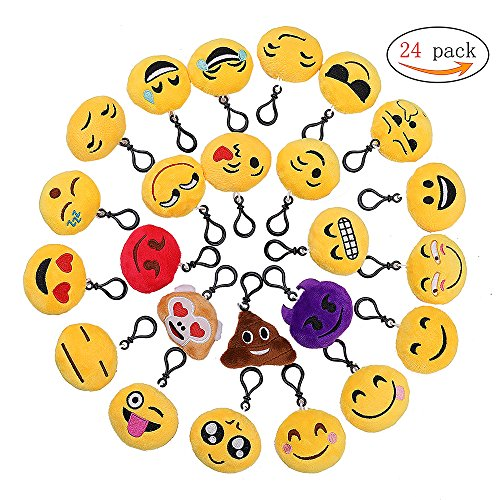 Emoji Llavero,Emoción Llavero 6cm Mini Regalo Relleno