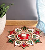 Itiha White Red Green 13 Pieces Rangoli Indian Decor for Wall Decoration, Floor Decoration & Table Decoration for Diwali…