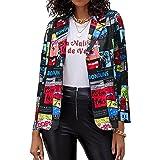 FLYCHEN Chaquetas de Traje y Blazers para Mujer OL Office Lady Chaqueta Floral Coat Casual de Moda Casual Blazers