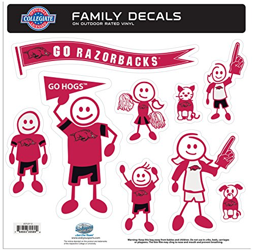 NCAA Arkansas Razorbacks Family Character Decals, Large
