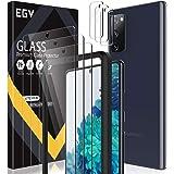 EGV Compatibile con Samsung Galaxy S20 FE 5G Protector de Pantalla,3 Pack Cristal Templado e 3 Pack Protector de Lente de Cám