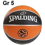 Spalding Euroleague TF 150 Kinder & Herren Basketball Gr. 5 oder 7, Grösse:5