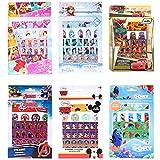 100 Stickers autocollants DISNEY * L'unité / Model aléatoire * Princesse / Cars / La reine des neiges / Avengers / Mickey ou Dory nemo