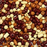 trendmarkt24 Holzperlen-Mischung groß, Naturmischung 1 kg ✓ Bastel-Perlen-Mix Holz ✓ Perlenset ca. 1-2 cm ✓ Lochgröße von ca. 4mm ✓ Schmuck-Perlen ✓ Armbänder Halsketten Schlüsselbänder 28650