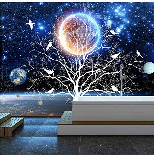 �gliche Größe Wandbild 3D Sternenklarer Baum-Blumen Und Vögel Modernes Wohnzimmer-Sofa-Fernsehhintergrund-Silk Wandhauptdekor 368X254Cm Besonders An ()