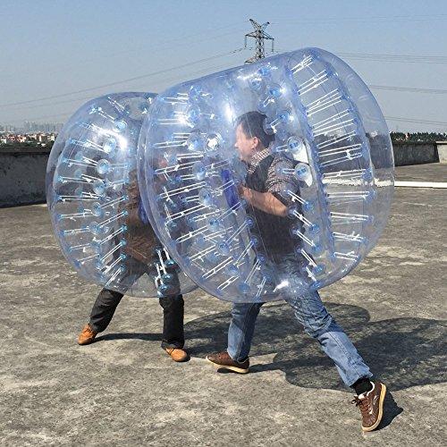 FOSHAN MINGZE Bubble Fußball Bälle Aufblasbare Anzug Zorbing Ball 0,8 mm PVC Dia 4 ft (1,2 m) verschweißte Konstruktion menschlichen Körper Bumper Bubble Kostüm für Kinder und Erwachsene (2 Stück), (Fußball Kostüm Ball)