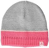 adidas Kinder Stripy-DJ2269 Mütze, Medium Grey Heather/Super Pink/White, OSFC