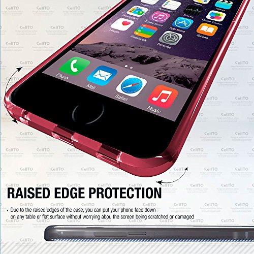 Cellto iPhone 6 Plus Case [weiche flexible] Super dünne [0,33 mm] TPU Kasten-Schirm-Schutz ** NEU ** [Precision Fit] Premium-Flex weichen Silikon-Hülle - Einzelhandel Öko-Verpackung - Slim Case [Baby- löschen Pink