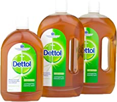 Dettol Antiseptic Disinfectant Liquid - Pack of 3 Pieces (2 x 750ml + 500ml)