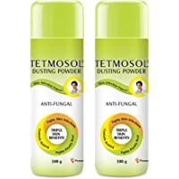 Tetmosol Anti-fungal Dusting Powder - for daily use - fights skin infections, prickly heat, itching - Pack of 2…