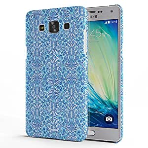 Koveru Designer Printed Protective Snap-On Durable Plastic Back Shell Case Cover for Samsung Galaxy A5 - Blue Flower Pattern