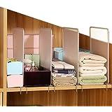 Étagères séparateurs de placard amovible, 4 pièces/ensemble de séparateurs de vêtements séparateurs de placard organiseur de