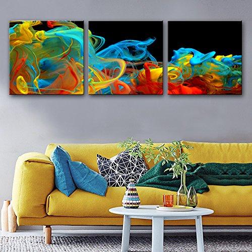 -Farben-Rauch-Wunder-Dekoration-Malerei-Satz, Frameless Malerei , 60*60cm*3pc (Wunder Bilderrahmen)