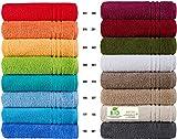 Handtücher Serie Milano BIO-Baumwolle in Luxusqualität, in 7 Größen und 16 Trendfarben - Grösse Handtuch 50x100 cm, Farbe Orange 316