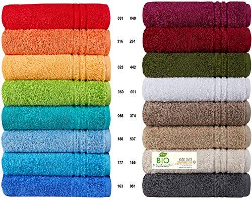 Naturawalk Handtücher Serie Milano BIO-Baumwolle in Luxusqualität, in 7 Größen und 16 Trendfarben - Grösse Handtuch 50x100 cm, Farbe Orange 316 (Handtücher)
