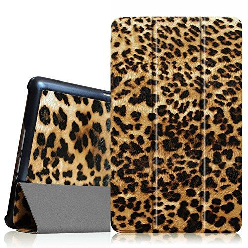 Fintie ESQ0030DE Samsung Galaxy Tab S 8.4 Ultra Schlank superleicht Hülle, Leopard Braun
