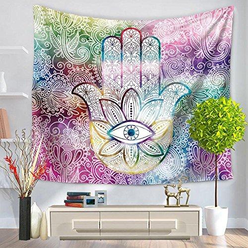 Tapisserie/Kunst abstrakte Palme druckt Tapisserie/moderne Art Hauswand/Strandtuch/Teppich/Hintergrund Dekorativer Stoff, 001, 200*150cm