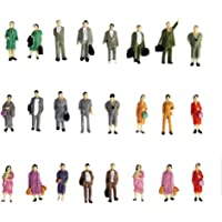 Generic 24pcs Painted Model Train Standing Posture People Figures Scale HO (1 to 87) P87-12