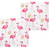 Toy Adventure - Satz 12 Servietten Flamingo (33 x 33 cm), perfekt für Jede Pool Party, Weiß