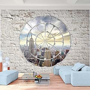 Fototapete New York 308 x 220 cm - Vliestapete - Wandtapete - Vlies Phototapete - Wand - Wandbilder XXL - Runa Tapete 9055010a