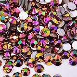 PENVEAT SS16 SS20 Zircone Blu Glitter AB Vetro chiodo Strass Appliques Retro Piatto Adesivi Cristallo Strass Pietre Strass per Artigianato, Oro Rosa AB, SS20